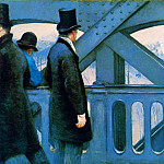 The Europa bridge , Gustave Caillebotte