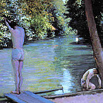 Гюстав Кайботт - Bather Preparing to Dive, Banks of the Yerres - 1878