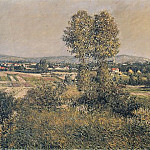 Гюстав Кайботт - Landscape at Argenteuil - 1889