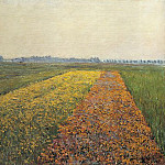 The Yellow Fields at Gennevilliers – 1884, Gustave Caillebotte