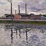 Factories at Argenteuil – 1888, Gustave Caillebotte