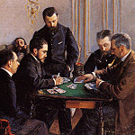 Game of Bezique – 1880, Gustave Caillebotte