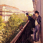 Гюстав Кайботт - A Balcony - 1880 - Private collection