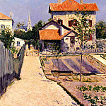 Гюстав Кайботт - The Artists House at Petit Gennevilliers - 1882
