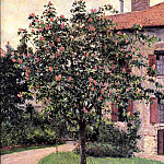 Gustave Caillebotte - Petit Gennevilliers, Facade, Southeast of the Artists Studio, Overlooking the Garden, Spring