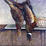 Гюстав Кайботт - Two Hanging Pheasants - 1882