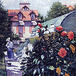 Dahlias – The Garden at Petit Gennevilliers – 1893, Gustave Caillebotte