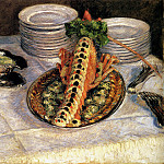 Still Life With Crayfish, Gustave Caillebotte