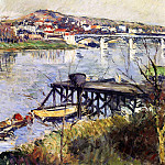The Argenteuil Bridge – 1893, Gustave Caillebotte