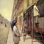The sign painters , Gustave Caillebotte