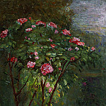 Rose Bush in Flower – 1884, Gustave Caillebotte