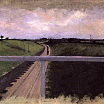 Gustave Caillebotte - Landscape with Railway Tracks - 1872