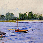 Гюстав Кайботт - Boat at Anchor on the Seine - 1890-1891