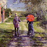 Rising Road – 1881, Gustave Caillebotte