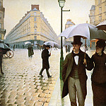 Paris place de l Europe, Gustave Caillebotte