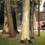 Gustave Caillebotte - Yerres, Through the Grove, the Ornamental Farm