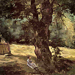 Гюстав Кайботт - Woman Seated under a Tree - 1874