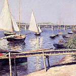 Гюстав Кайботт - Sailboats in Argenteuil - 1888