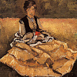 Гюстав Кайботт - Woman Seated on the Grass (fragment) - 1874