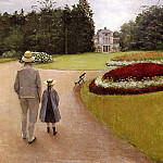 The Park on the Caillebotte Property at Yerres – 1875, Gustave Caillebotte