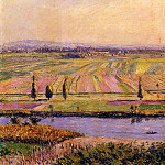 The Gennevilliers Plain, Seen from the Slopes of Argenteuil – 1888, Gustave Caillebotte