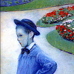 Camille Daurelle in the Park at Yerres – 1877, Gustave Caillebotte