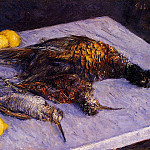 Pheasants and Woodcocks on a Marble Table – 1883, Gustave Caillebotte