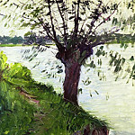 Gustave Caillebotte - Willow on the Banks of the Seine
