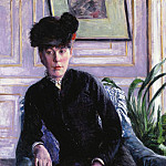 Portrait of a Young Woman in an Interior – 1877, Gustave Caillebotte