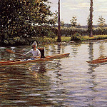 Perissoires sur l-Yerres aka Boating on the Yerres, Gustave Caillebotte
