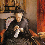 Gustave Caillebotte - Portait of Madame Martial Caillebote the artist-s mother