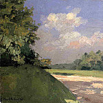 Yerres, the Lawn in the Park, Seen from a Path, Gustave Caillebotte