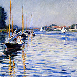 Boats on the Seine , Gustave Caillebotte