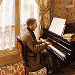 Гюстав Кайботт - Young Man Playing the Piano - 1876