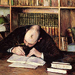 Gustave Caillebotte - Portrait of a Man Writing in His Study - 1885