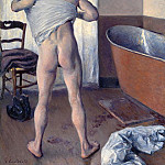 Гюстав Кайботт - Man at His Bath - 1884