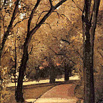 Yerres, Path Through the Old Growth Woods in the Park, Gustave Caillebotte