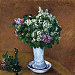 Гюстав Кайботт - Still LIfe with a Vase of Lilacs - 1883