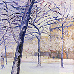 Гюстав Кайботт - Park in the Snow, Paris - 1888