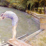 Bathers, Banks of the Yerres – 1877, Gustave Caillebotte