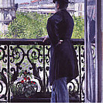 Gustave Caillebotte - The Man on the Balcony - 1880