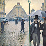 Gustave Caillebotte - Paris street, Rainy Day - 1877
