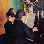Gustave Caillebotte - The Piano Lesson - 1881