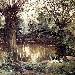 Landscape, Banks of the Yerres – 1875, Gustave Caillebotte