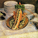 Гюстав Кайботт - Still Life with Crayfish - 1880 - 1882