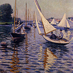 Regatta at Argenteuil – 1893, Gustave Caillebotte