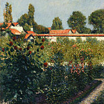 The Garden of Petit Gennevillers, the Pink Roofs – 1881, Gustave Caillebotte