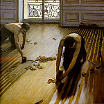 Floor Strippers, Gustave Caillebotte