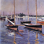 Boats on the Seine at Argenteuil – 1890, Gustave Caillebotte