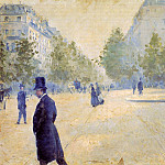 Гюстав Кайботт - Place Saint-Augustin, Misty Weather - 1878